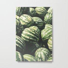 Tropical Summer Fruit Metal Print