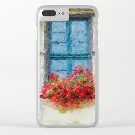 Windows painted Clear iPhone Case