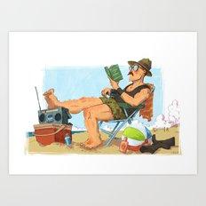 Sgt. Slaughter Art Print