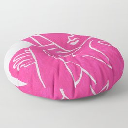 Pretty in Pink Woman - POP ART PAINTING ABSTRACT Floor Pillow