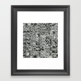 Knowing Wink (P/D3 Glitch Collage Studies) Framed Art Print