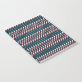 Ships Ahoy Blue/Red Stripe Notebook