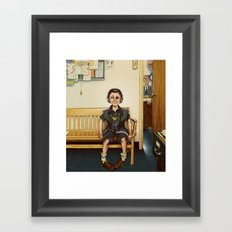 Loki Outside the Principal's Office Framed Art Print