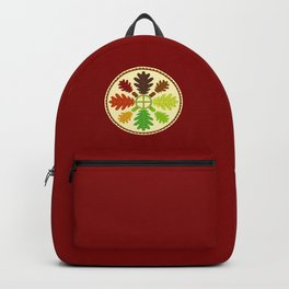 Mighty Oak Folk Art Hex Sign Backpack