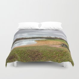 Let's Sit By The Lake Duvet Cover