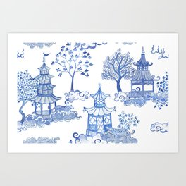 Pagoda Leopards Art Print
