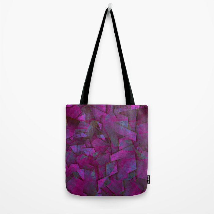 Fragments In Pueple - Abstract, fragmented pattern in purple Tote Bag