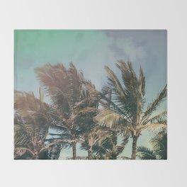 Vintage Palm Hawaii Summer Daze Throw Blanket