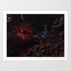 Io, Volcano Moon Art Print