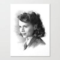 peggy carter Canvas Prints featuring Peggy by akasatana0807