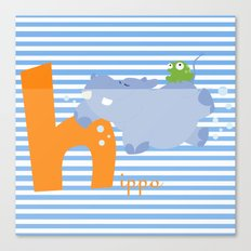 h for hippo Canvas Print