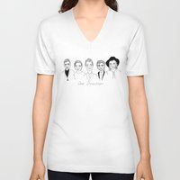 cactei V-neck T-shirts featuring One Direction by ☿ cactei ☿