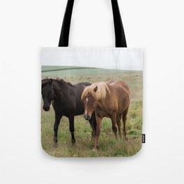 Icelandic horses - nature photography Tote Bag