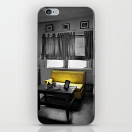 Kitchen Couch, Yellow iPhone Skin