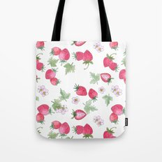 Watercolor . Strawberry on a White background . Tote Bag