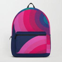 Blue & Pink Retro Bullseye Backpack