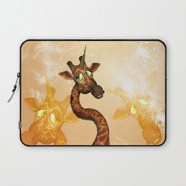 The unicorn Giraffe Laptop Sleeve