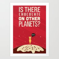 chocolate Art Prints featuring Chocolate by Giftonaut