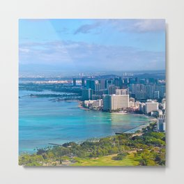 Diamond Head, Oahu Hawaii  Metal Print