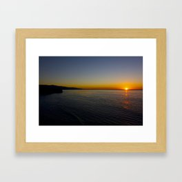 Pointe Dume Sunrise Framed Art Print