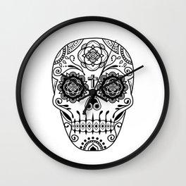 Deco Sugar Skull 2 Wall Clock