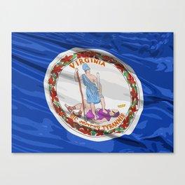 Virginia Fancy Flag Canvas Print