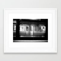 subway Framed Art Prints featuring Subway by Kameron Elisabeth