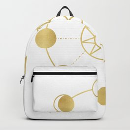 Gold Moon and Sun Phases Backpack