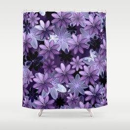 Ultra Violet Anemones of Tillandsia Shower Curtain