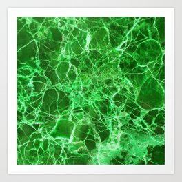 Emerald Green Marble Art Print
