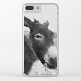Donkeys Clear iPhone Case