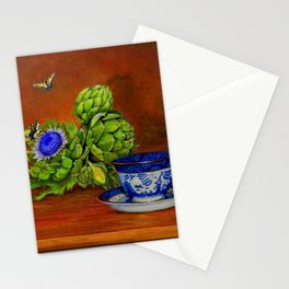 Teacup with Artichokes Stationery Cards