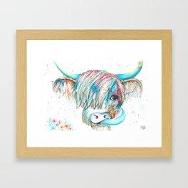 Highland Cattle full of colour Framed Art Print