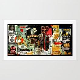 Jean-Michel Basquiat - Notary 1983 Art Print