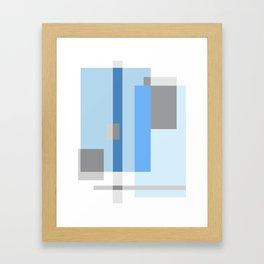 Color Harmony Blue Framed Art Print