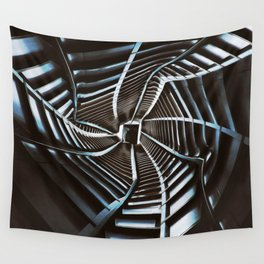 Twisted Cyberpunk Tunnel Wall Tapestry