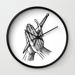 pray for your enemies Wall Clock