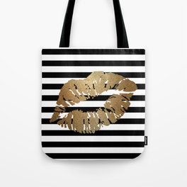 Gold Lips 2 Tote Bag