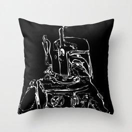 The Hunter B&W(flip) Throw Pillow
