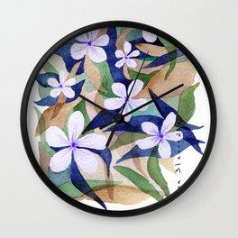 Granny Blue Wall Clock