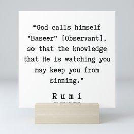 127     Rumi Quotes   190221 Mini Art Print
