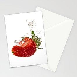 Strawberry splash Stationery Cards