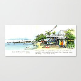 Calico Jack's, Grand Cayman (with notes) Canvas Print