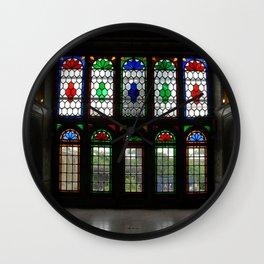 Stained Glass Windows and Doors Qavam House, Shiraz, Persia, Iran Wall Clock