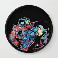 fullmetal Wall Clocks featuring Fullmetal Alchemist by lauramaahs