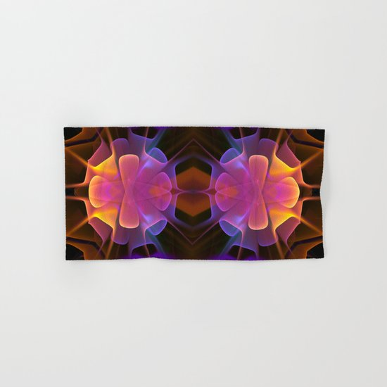 Curves and Colors, geometric abstract Hand & Bath Towel