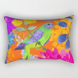 Brillant Jungle Bird Rectangular Pillow