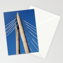 modern suspension bridge - southport engand Stationery Cards