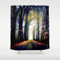 journey Shower Curtains featuring journey by Nev3r
