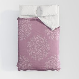 Floral snowflakes on pink Comforters